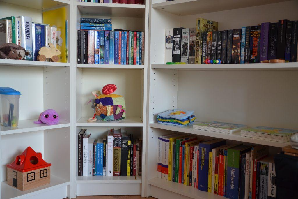 The bookshelf play space