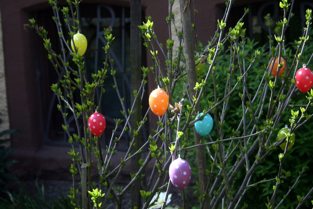 German Easter egg tree