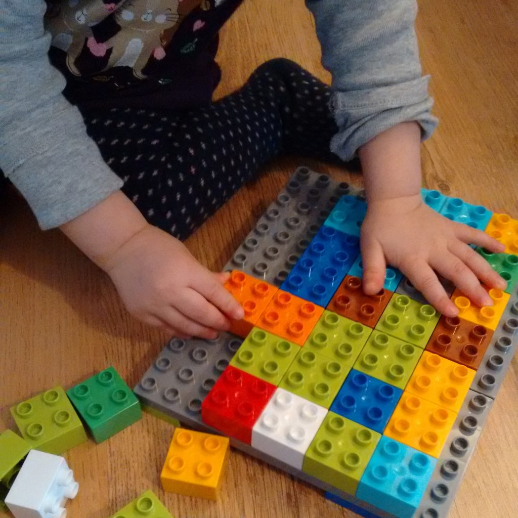 Playing with Lego Duplo