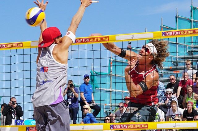 Beach volleyball in Latvia