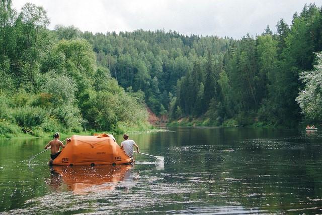 Rafting in Latvia