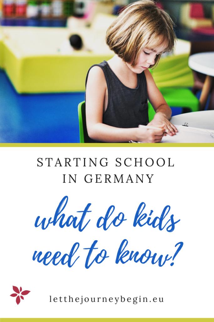 Starting school in Germany